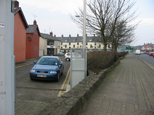 Ballymena North Road site: East view